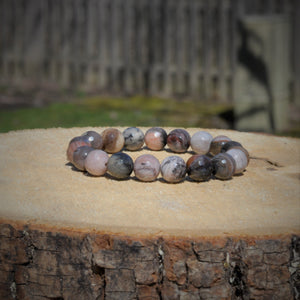 Mala Bracelet Petrified Wood