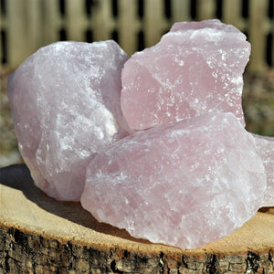 Rose Quartz raw large