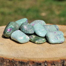 Load image into Gallery viewer, Ruby Fuchsite tumbled stones