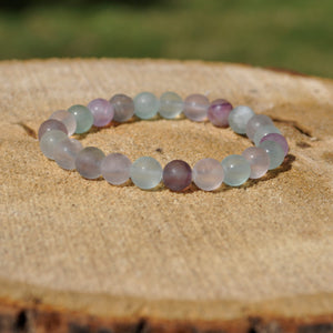 Handmade Fluorite Mala Bracelet |Ground, Connect with Spirit, Invite Clarity and Realize the Path to Joy is Clearly Lit| [matte finish]