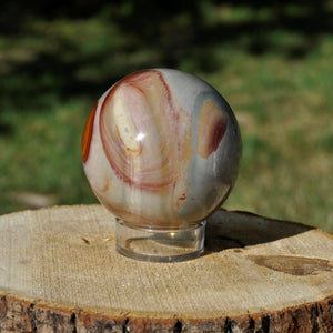 Polychrome Jasper Sphere |Connect with Earth Energy, Find Joy, Transform and Manifest!|