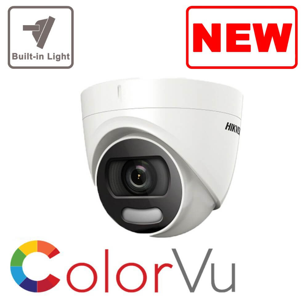 5MP Hikvision ColorVu 1 to 4 camera system supplied and fitted