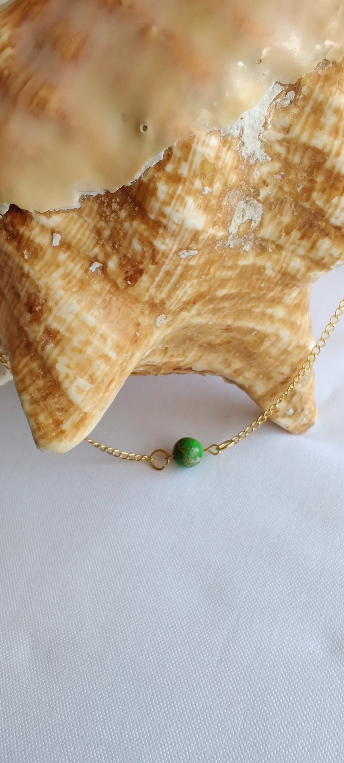 Healing crystals, Chakra jewelry,  Gift for her, Minimalist necklace,  Jade, 18 inch Gold plated chain