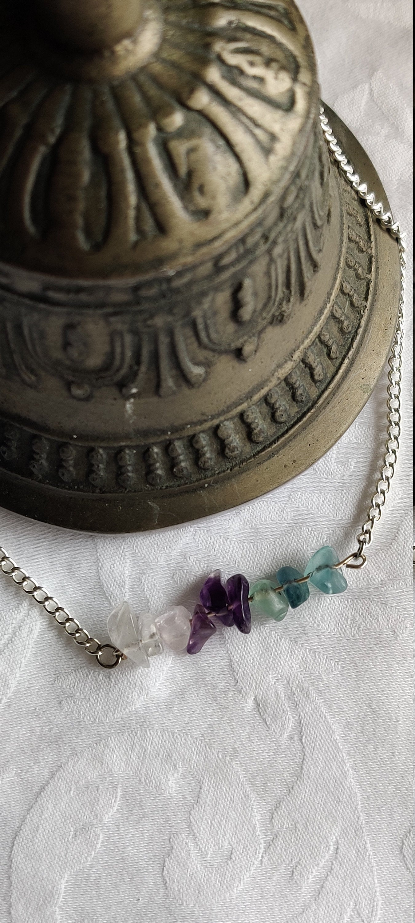 Healing Crystals, Yoga jewelry, Minimalist,, Gifts for her, Quartz, Aventurine, Amethyst