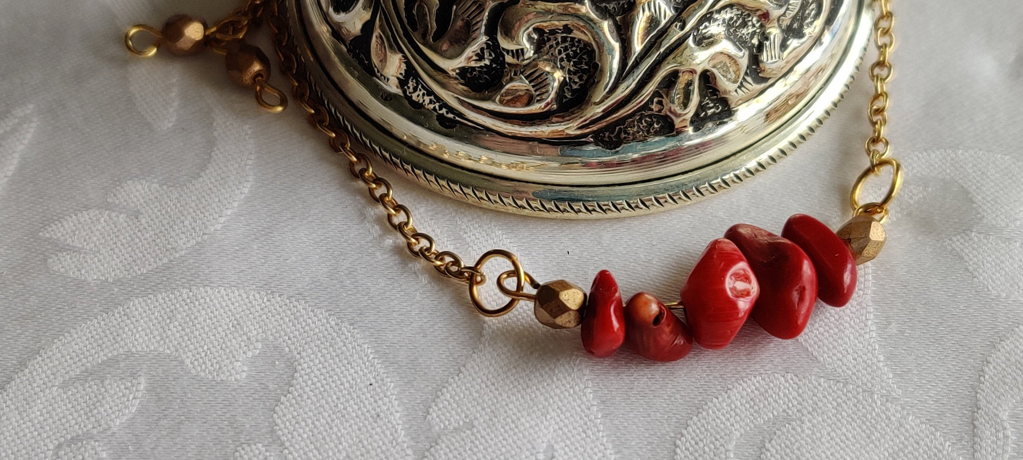 Healing crystals, Gift for her, Minimalist, Necklace, Carnelian, Gold plated chain