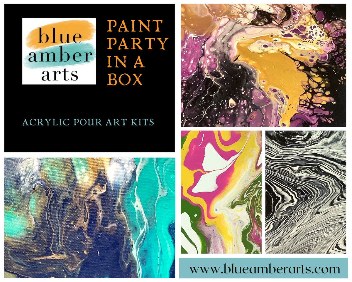 Paint Party in a Box: Acrylic Pouring Kit, Gifts for Christmas, Paint night