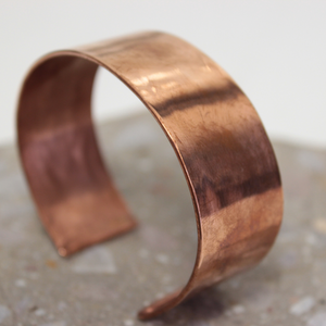 Wide Plain Rolled Copper Cuff - The Emporium - Buy Handmade - the home of handmade gifts in Northants