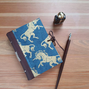Golden unicorns handmade journal, A6 - The Emporium - Buy Handmade - the home of handmade gifts in Northants