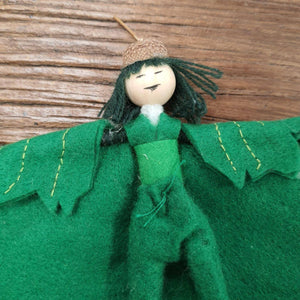 Maple leaf elf art doll - The Emporium - Buy Handmade - the home of handmade gifts in Northants
