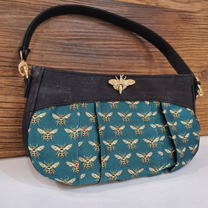 Bee fabric handbag - The Emporium - Buy Handmade - the home of handmade gifts in Northants