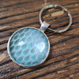 Blue snakeskin keyring - The Emporium - Buy Handmade - the home of handmade gifts in Northants