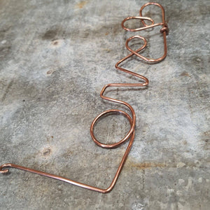 Copper wire word - LOVE - The Emporium - Buy Handmade - the home of handmade gifts in Northants
