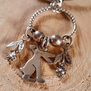 Silver spring hare necklace