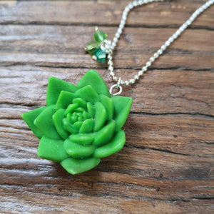 Succulent necklace - The Emporium - Buy Handmade - the home of handmade gifts in Northants