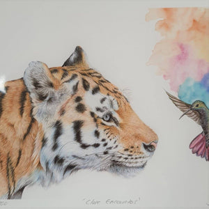 Tiger art print - The Emporium - Buy Handmade - the home of handmade gifts in Northants