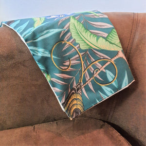 Tropical print cushion cover