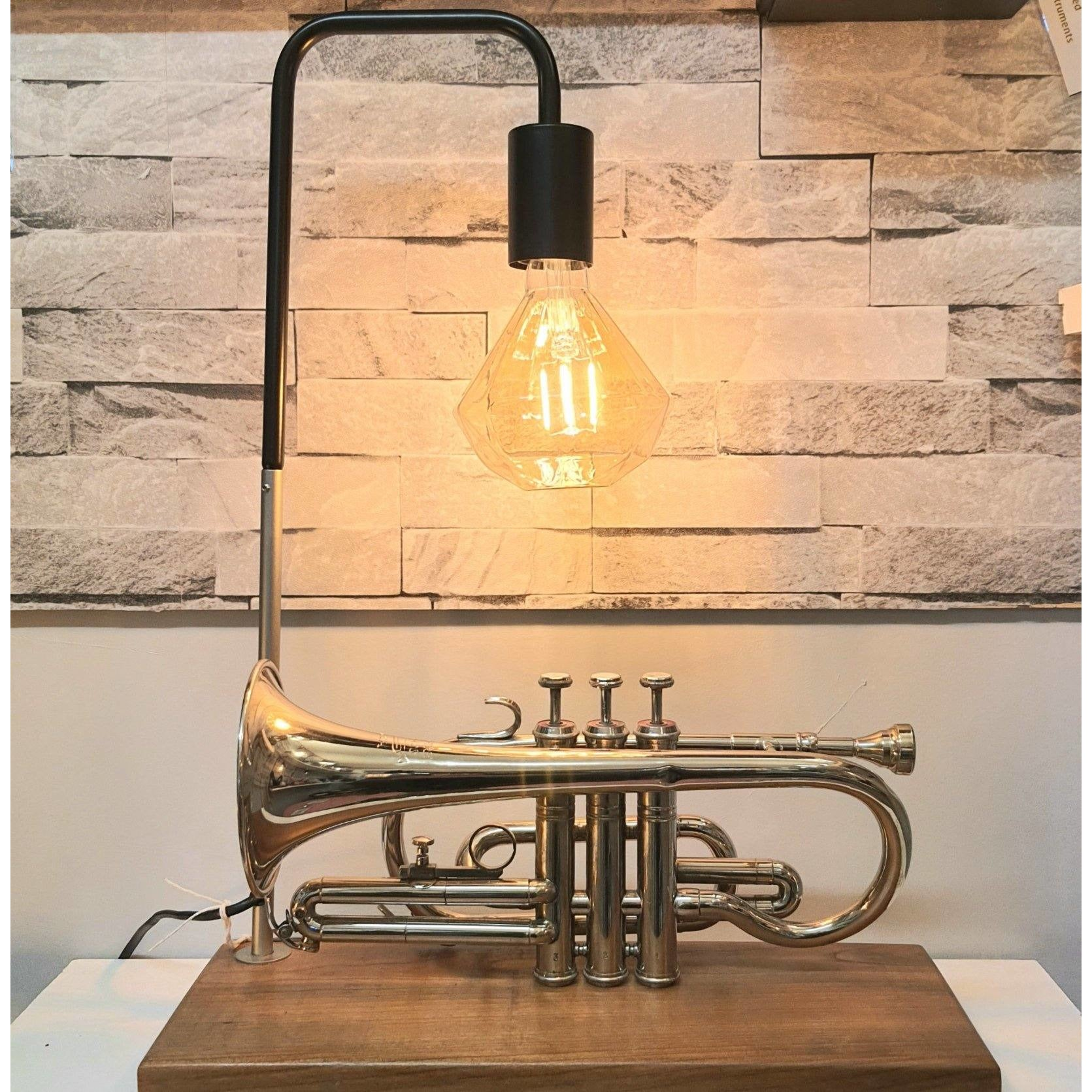 Upcycled trumpet lamp - The Emporium - Buy Handmade - the home of handmade gifts in Northants