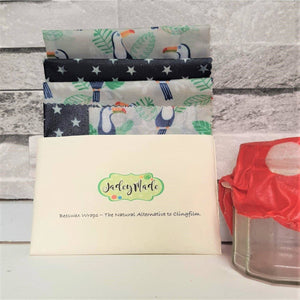 Beeswax wraps, kitchen pack - The Emporium - Buy Handmade - the home of handmade gifts in Northants