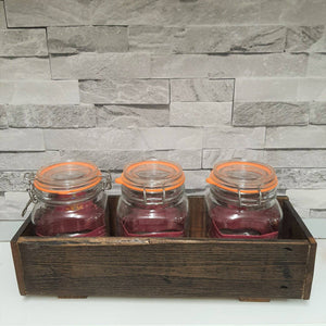 Wooden jar storage - The Emporium - Buy Handmade - the home of handmade gifts in Northants