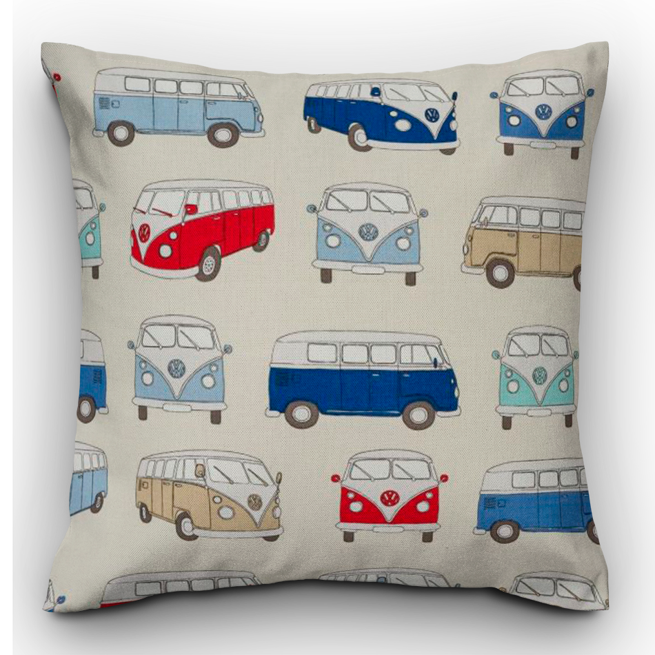 Retro Camper Van Cushion - The Emporium - Buy Handmade - the home of handmade gifts in Northants