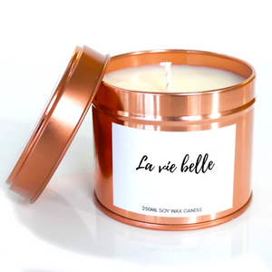 Soy wax candle - la vie belle - The Emporium - Buy Handmade - the home of handmade gifts in Northants