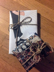 Gift wrapped in newspaper & twine