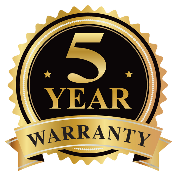 5 Year Warranty - ShopTheHotboxe