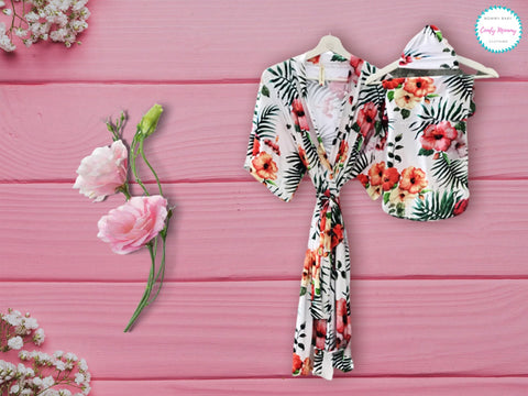 maternity robe with swaddle set