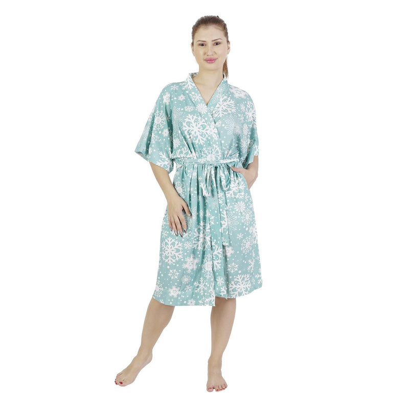Comfy Mommy Gray Mermaid Organic Stretch Cotton Maternity Robe | Maternity Gowns - comfymommyshop.in