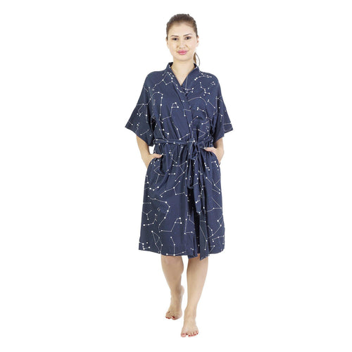 Comfy Mommy Constellation Organic Stretch Cotton Maternity Robe | Maternity Gowns - comfymommyshop.in