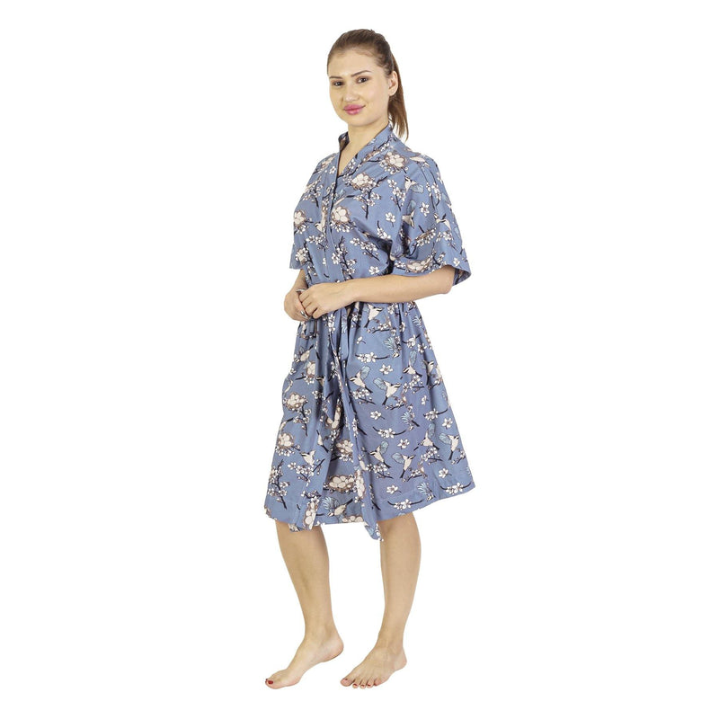 Comfy Mommy Nest Organic Stretch Cotton Maternity Robe | Maternity Gowns - comfymommyshop.in