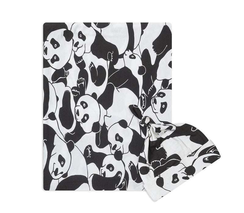 Panda Swaddle Set For Newborn Baby Boy And Girl | Swaddle Set For New Born Baby - comfymommyshop.in