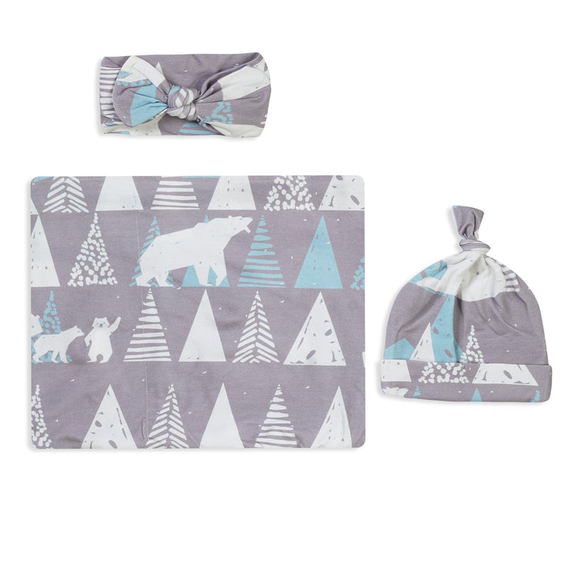Gray Mountain Swaddle Set For Newborn Baby Boy And Girl | Swaddle Set For New Born Baby - comfymommyshop.in