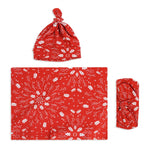 Red Christmas Swaddle Set For Newborn Baby Boy And Girl | Swaddle Set For New Born Baby - comfymommyshop.in