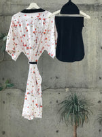 Reds Mall Floral Maternity robe and swaddle set boy. Mommy and me robe and swaddle set boy. In organic stretch cotton. Matching t-shirts available. - comfymommyshop.in