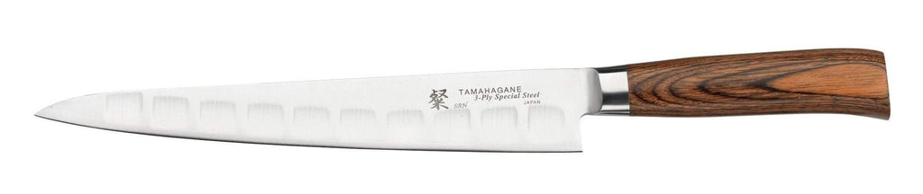 SN-1213  Tamahagane 24cm Fluted Slicing Knife