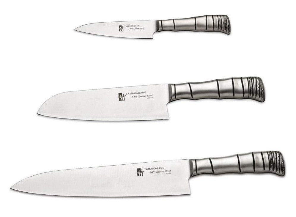 Tamahagane Bamboo 3 Piece Knife Set