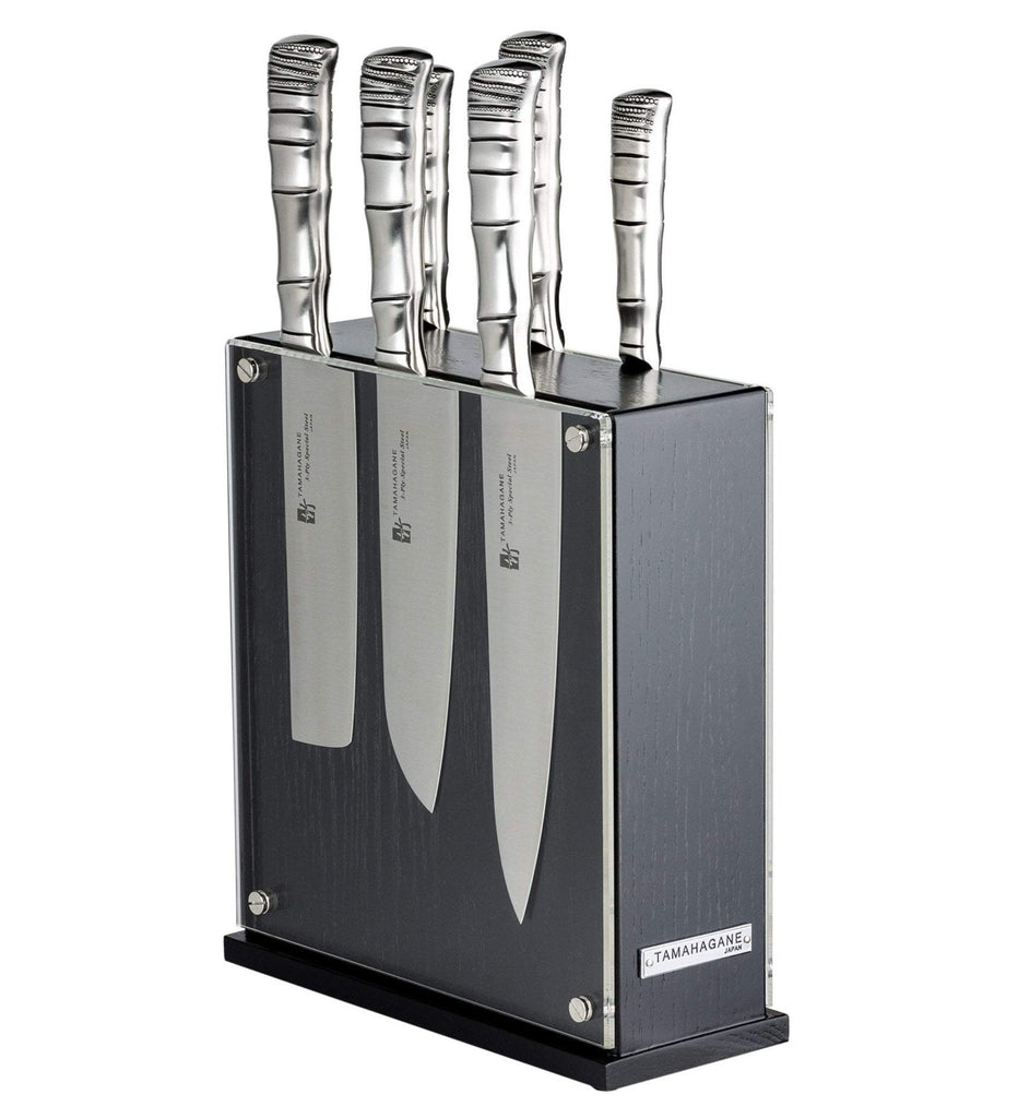 Tamahagane Bamboo 7 Piece Knife Block Set