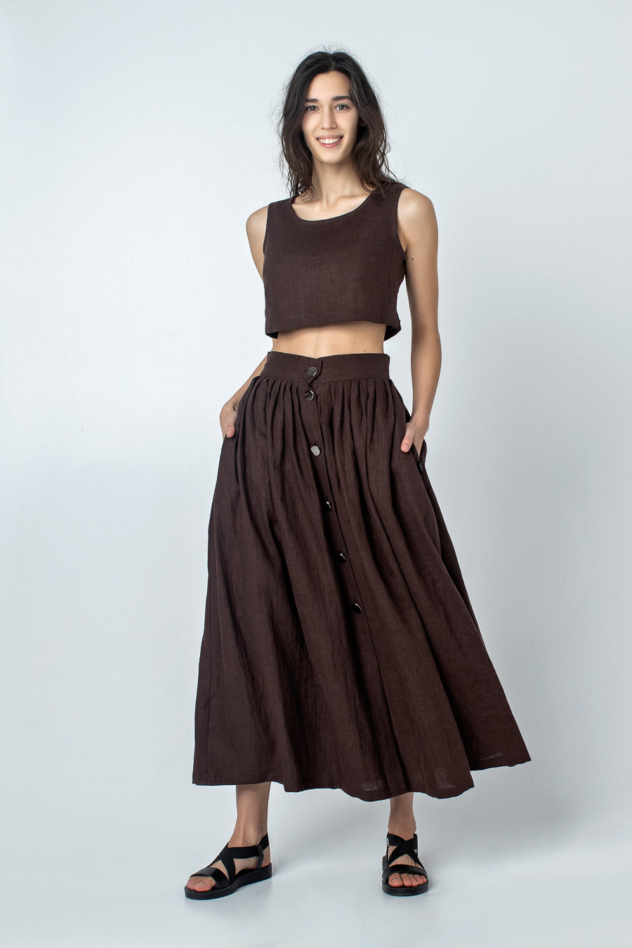 KIKA | Linen crop top