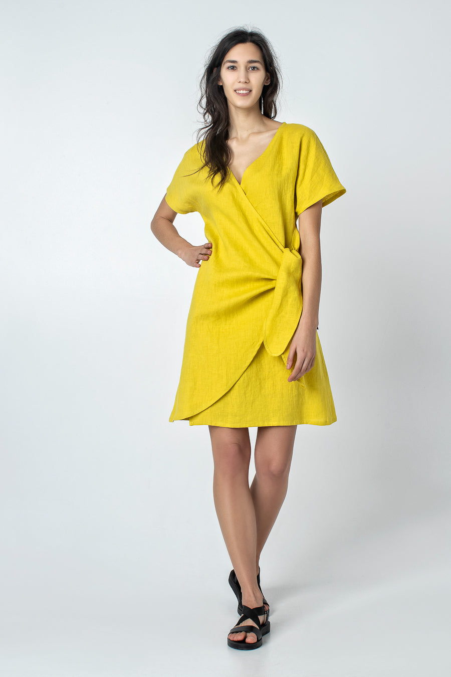 LAYA | Asymmetrical linen dress