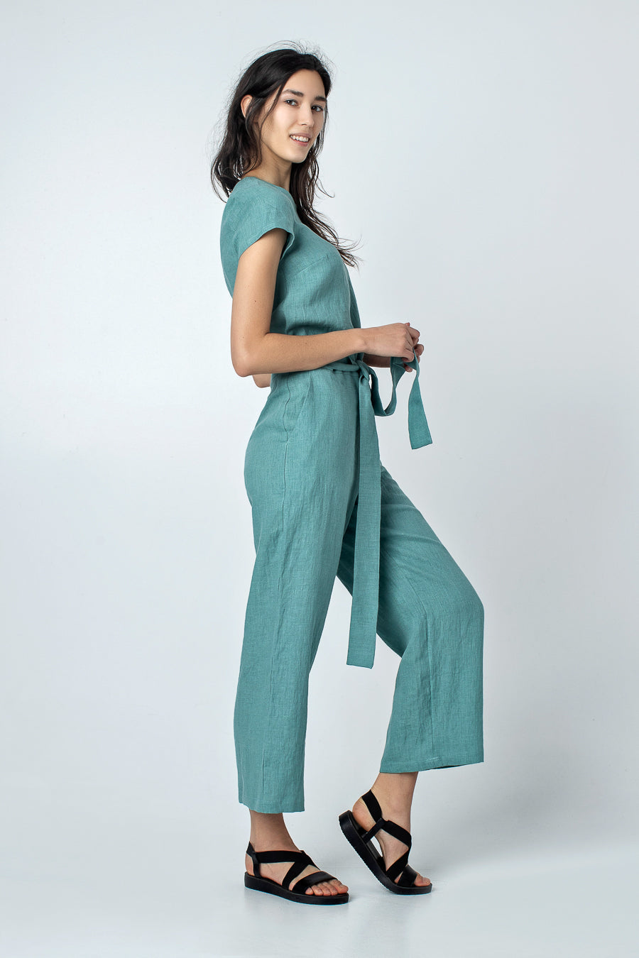 TARO | Wide leg linen pants