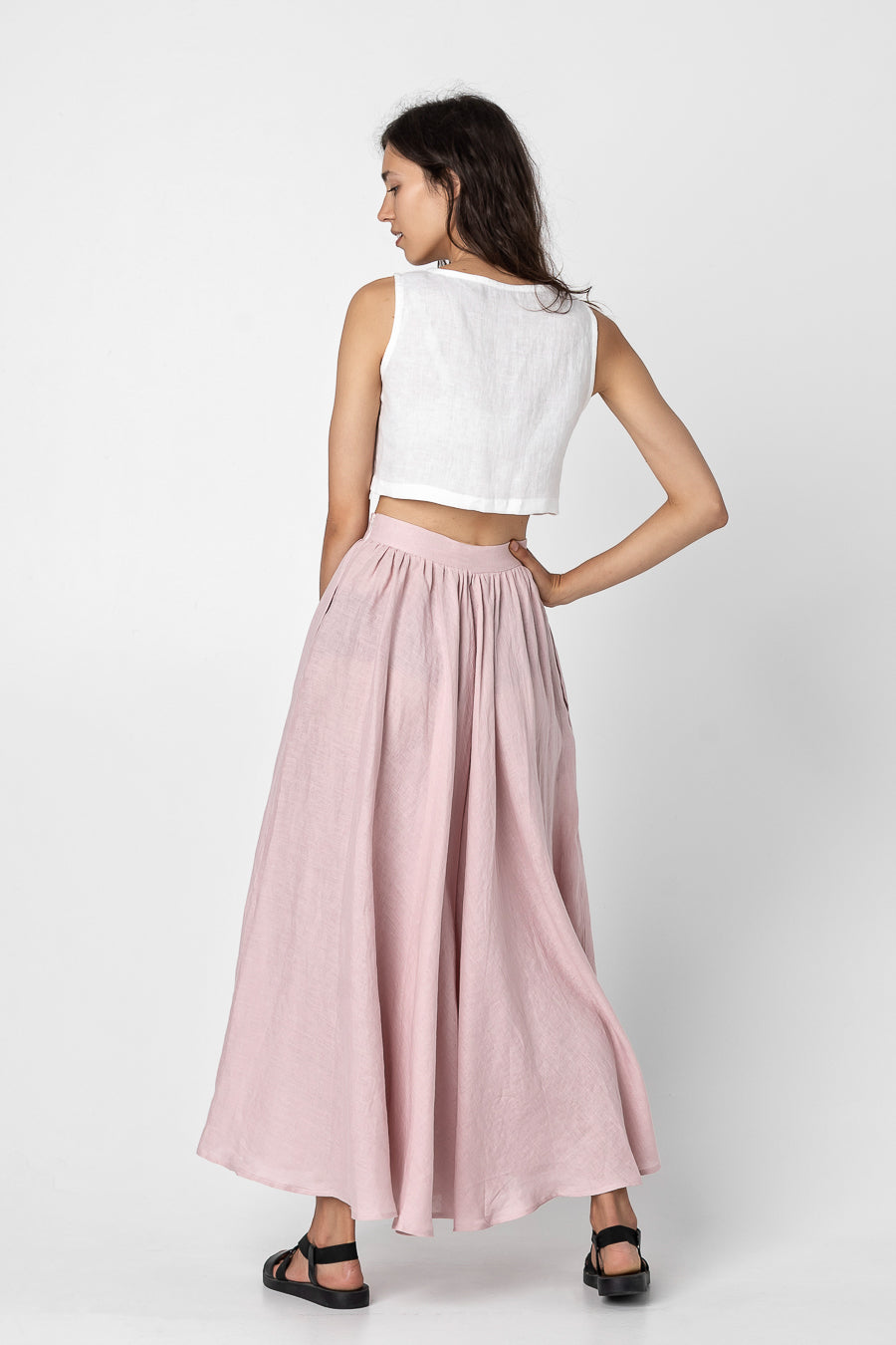 MONA | Linen skirt with pockets