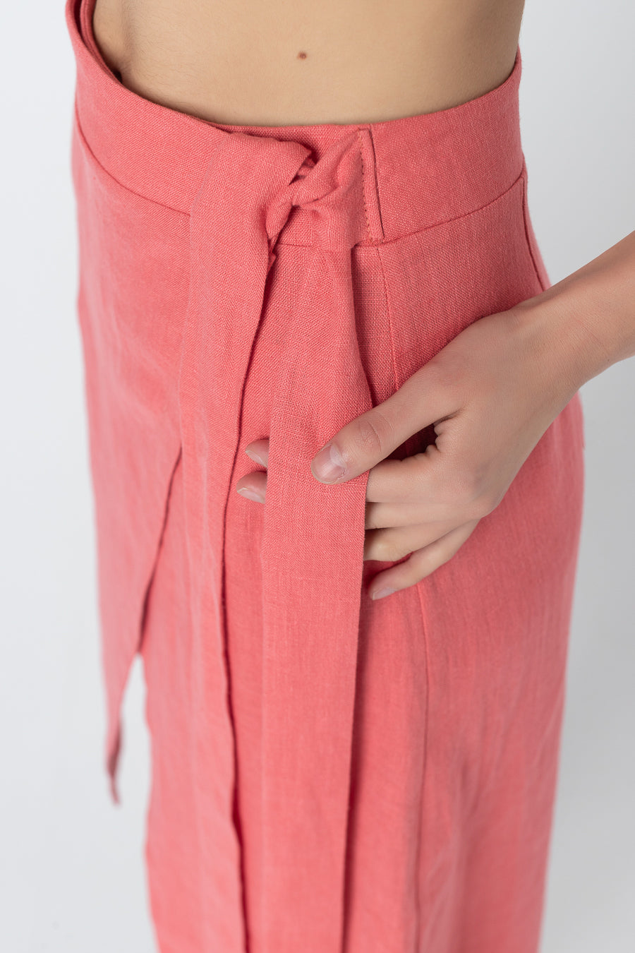 ZETA | Pleated linen skirt