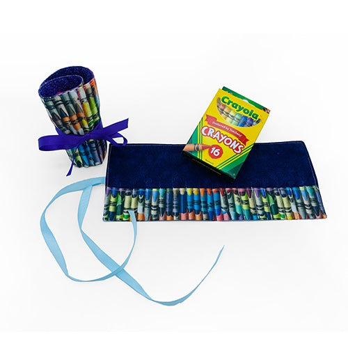 Crayon Roll Up with 16-Pack Crayola Crayons