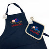 Apron - Cubs -  Navy Blue Eco-conscious Apron, Embroidered Bib