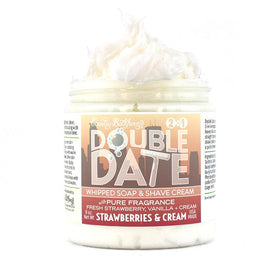 Double Date Whipped Soap and Shave - Strawberries and Creame