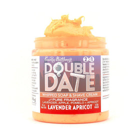 Double Date Whipped Soap and Shave - Lavender Apricot