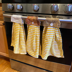 Yellow Striped - For Ovens or Drawer Handles