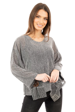 Florence Mesh Tunic Silver - DressMyMood.co.uk