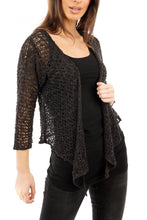 Load image into Gallery viewer, Knitted Shrug Black - DressMyMood.co.uk